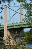 Ile de France,  suspension bridge of Triel Sur Seine Royalty Free Stock Photo
