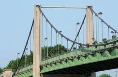 Ile de France,  suspension bridge of Triel Sur Seine Stock Image
