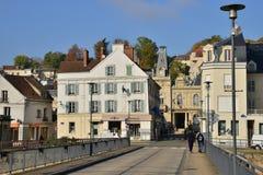 Ile de France, ville pittoresque d'en Yvelines de Meulan images libres de droits
