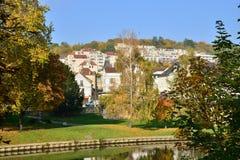 Ile de France, ville pittoresque d'en Yvelines de Meulan photo stock