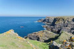 Ile de Groix in Bretagne stockfotos