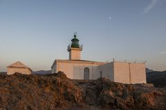 Ile de la彼得拉,石海岛, Ile鲁塞,红色海岛,可西嘉岛,上部可西嘉岛,法国,欧洲,海岛 免版税图库摄影