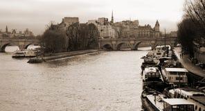 Ile de la Cité París Imagenes de archivo