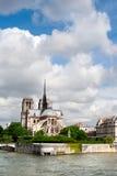 ile de la Cite在巴黎 库存图片