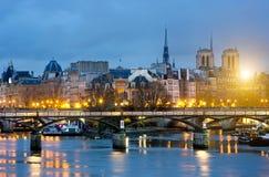 Ile de la cite and notre dame de Paris Cathedrale , France Stock Photos