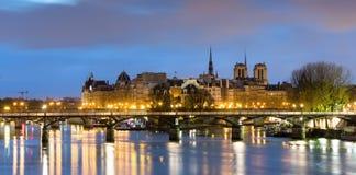 Ile de la cite and notre dame de Paris Cathedrale , France Stock Photo