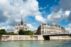 Ile de la Cite a Parigi Fotografie Stock Libere da Diritti