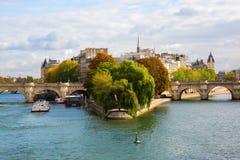Ile de la Cite a Parigi Fotografia Stock Libera da Diritti