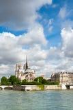 Ile DE La Cite in Parijs Stock Afbeelding