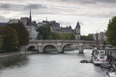 Ile de la Cite, Paris Image stock