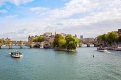 Ile de la Cite in Paris Lizenzfreie Stockbilder