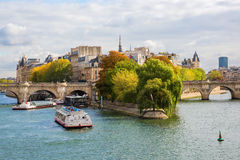 Ile de la Cite in Paris Stock Photos