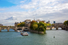 Ile de la Cite in Paris Stock Photography