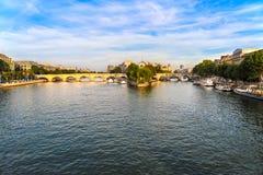 The Ile de la Cite Paris France. From the Pont des Arts royalty free stock photo