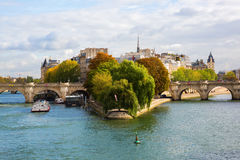 Ile de la Cite in Paris Royalty Free Stock Photo