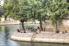 Ile de la cite in Paris Stock Photos