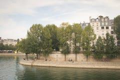 Ile de la cite in Paris Stock Image