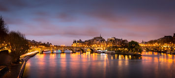 Ile de la Cite and Pont Neuf at sunrise - Paris Stock Photos