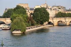 Ile de la Citera i Paris, Frankrike royaltyfria foton
