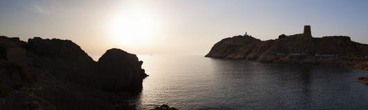 Ile de la Pietra, Steininsel, Ile-Rousse, rote Insel, Korsika, oberes Korsika, Frankreich, Europa, Insel lizenzfreies stockbild