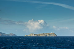 Ile De Los angeles Giraglia na północnej poradzie nakrętka Corse Zdjęcia Royalty Free