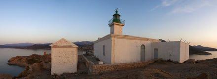 Ile De Los angeles Pietra, Kamienna wyspa, Ile-Rousse, Czerwona wyspa, Corsica, Górny Corsica, Francja, Europa, wyspa Fotografia Stock