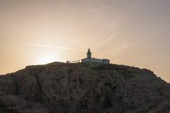 Ile De Los angeles Pietra, Kamienna wyspa, Ile-Rousse, Czerwona wyspa, Corsica, Górny Corsica, Francja, Europa, wyspa Zdjęcie Stock
