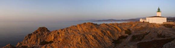 Ile De Los angeles Pietra, Kamienna wyspa, Ile-Rousse, Czerwona wyspa, Corsica, Górny Corsica, Francja, Europa, wyspa Zdjęcia Stock
