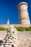 Ile de Ré - The lighthouse Phare des Baleines and old museum. At the coast stock image
