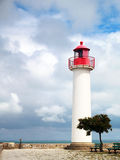 Ile de Re. The lighthouse in  Saint-Martin-de-Ré on the island of Re. The Island of Re (Ile de Ré) is a famous holiday resort on the Atlantic coast, the island Royalty Free Stock Images
