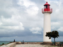 Ile de Re. The lighthouse in  Saint-Martin-de-Ré on the island of Re. The Island of Re (Ile de Ré) is a famous holiday resort on the Atlantic coast, the island Royalty Free Stock Photography