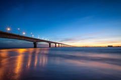 Ile de Re Bridge. Royalty Free Stock Photo