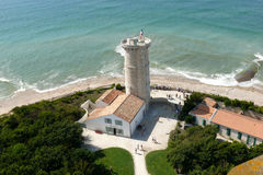 Ile de Re lighthouse. Aerial view of Ile de Re island lighthouse, France Stock Image
