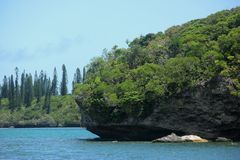 Ile des Pins. The coast of Ile des Pins, New Caledonia Stock Image