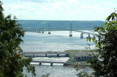 ile orleans för bro D till Arkivfoto
