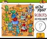 Ile robotów aktywność ilustracji