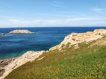 Ile Rousse cliffs Royalty Free Stock Image