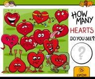 Ile serc aktywność Zdjęcia Stock