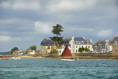 Ile tudy in brittany. Ile tudy harbor in brittany Stock Image