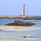 Ile Vierge and his lighthouse Stock Image