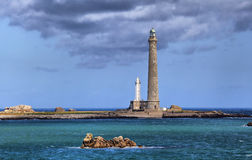 Ile Vierge lighthouses,  Brittany, France Stock Photography