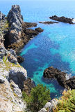 Ile Vierge, península de Crozon Imagen de archivo