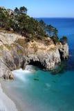 Ile Vierge y la playa, península de Crozon Imágenes de archivo libres de regalías