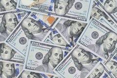 Ile widzii Benji ty, nowi sto dolarowych banknotów lo zdjęcia stock