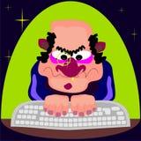 Ilegal ELE usuário ilustração royalty free