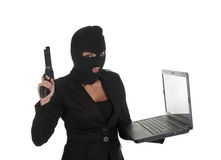 Ilegal laptop Stock Photography