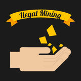 Ilegal mining Stock Photography