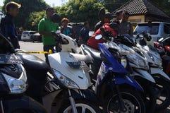 Ilegal motorcycle Stock Photo