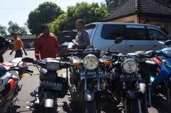 Ilegal motorcycle Stock Image