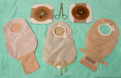 Ileostomy bags Stock Photos
